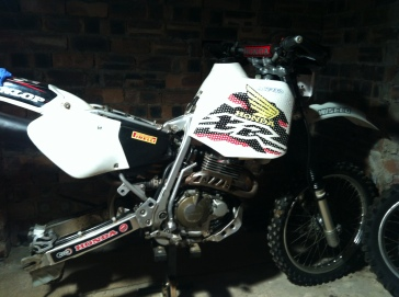 My bike with the new tank on
