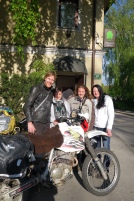Slovenian ladies who helped us when our bikes were nearly stolen