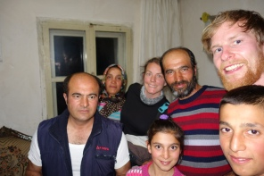 Deepest darkest Turkey, this family took us in after we had a bad encounter with the 'police'