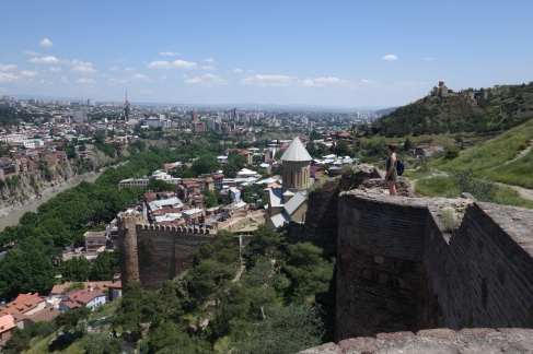 Looking out over Tbilisi
