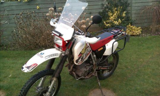 Lottie's bike after modifications