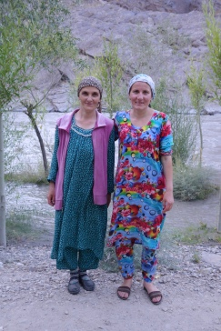 Tajik ladies who fussed and fed us in the Bartang