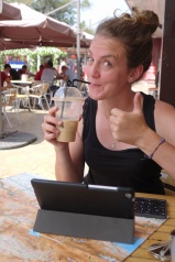 Iced latte and blogging in Bishkek