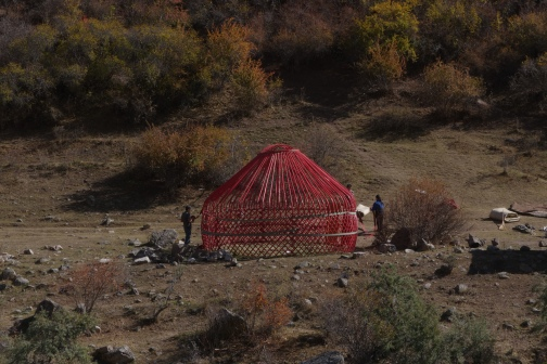 Many yurts are being taken down for the winter