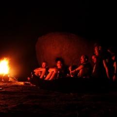 Cashew nuts roasting by an open fire....