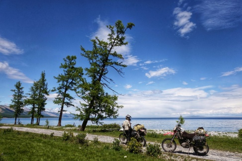 Spectacular Khovsgol Nuur nestled in the edge of the Taiga