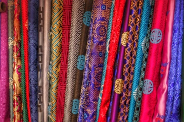 Silk was traded like currency all along the Silk Roads inspiring its name and favoured by Mongols