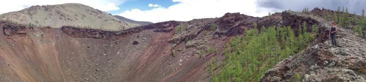 Extinct volcano of the White lake