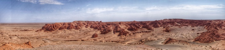 Flaming cliffs of the Gobi