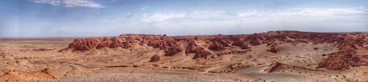 Flaming cliffs of the Gobi