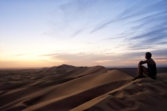 Khongoryn Els sand dunes in the Gobi desert