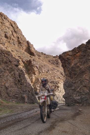 Narrow gorge of Dungamy Am ice canyon