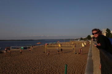 Golden beaches of the Volga